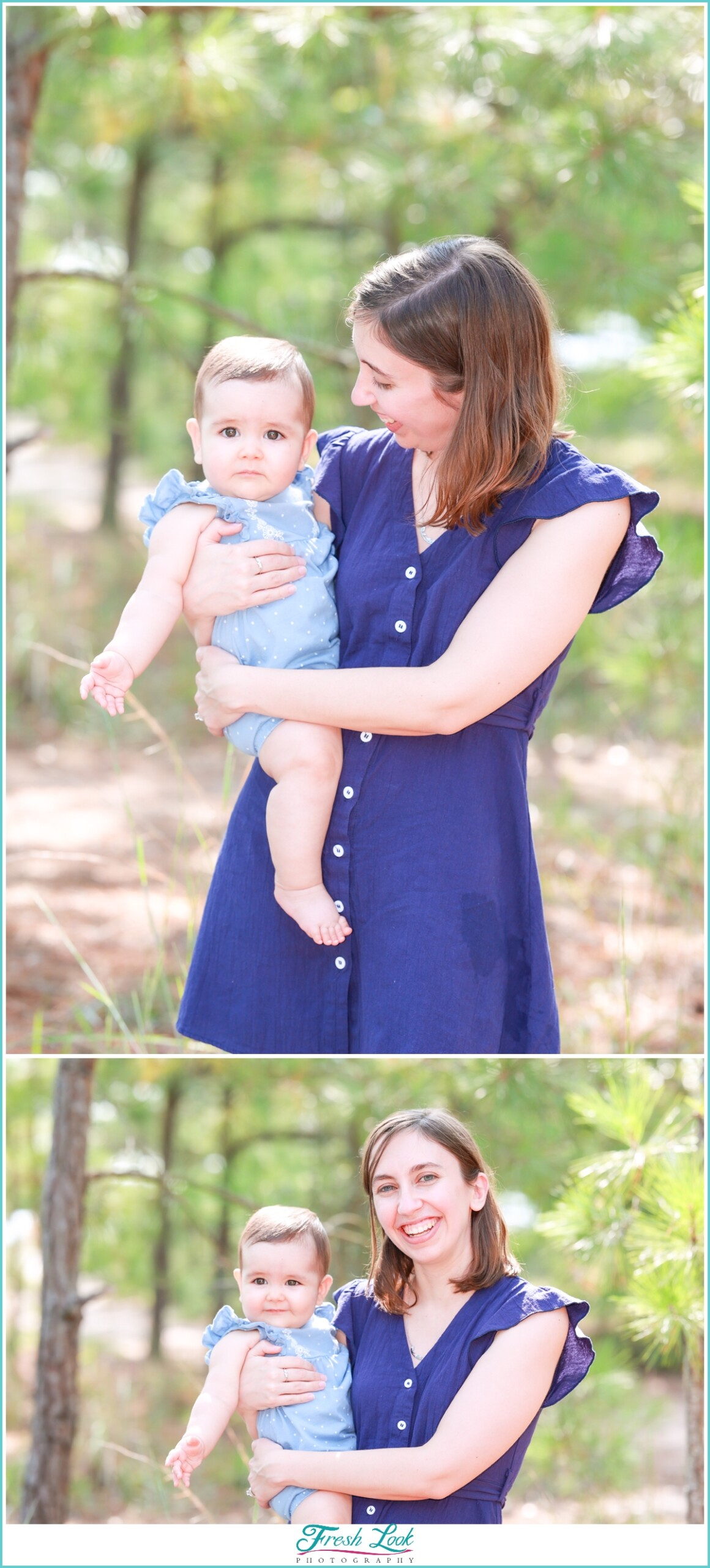 Woodsy Mother and Daughter Photoshoot