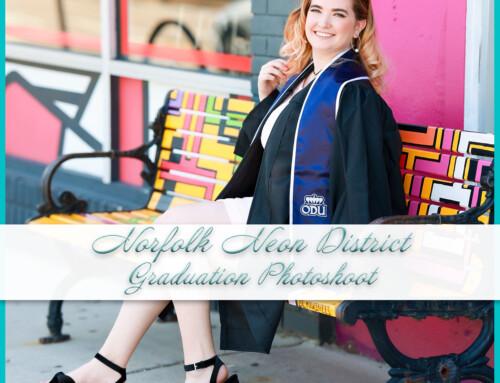 Norfolk Neon District Graduation Photoshoot